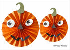 "China Lightweight Paper Halloween Decorations 10"" 12"" 14"" Pumpkin Face Halloween Paper Fans company"
