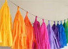 Popular Holiday Paper Garland , Diy Tissue Paper Tassel Garland Decoration