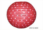 "China Colorful Paper Wedding Decorations , 8""  12"" 16"" Hanging Paper Lanterns Craft factory"