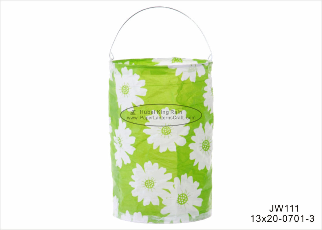 13 Cm Green Sun Flower Paper Lanterns Craft Hanging Paper Candle
