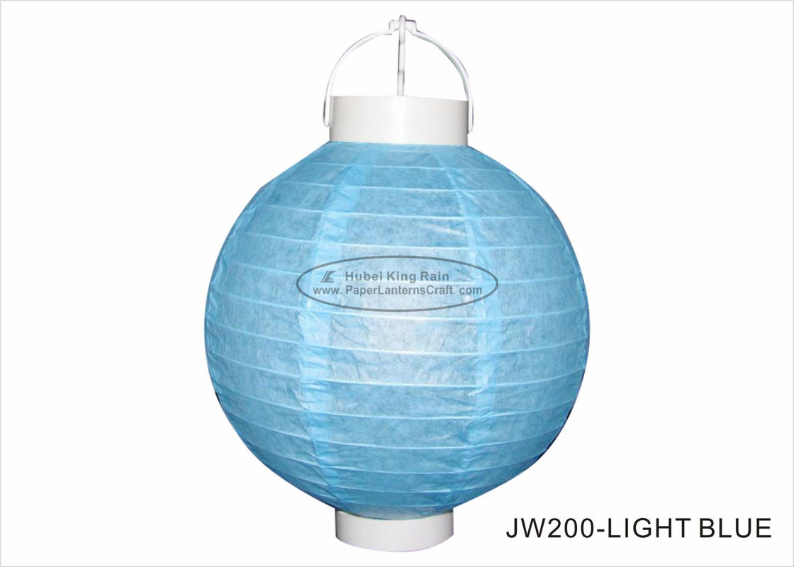 Beautiful Led Paper Lantern Lights 20cm Solid Colors Lanterns For Party Decor
