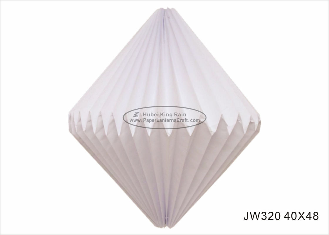 Foldable Lampion Origami Paper Lampshade White 40cm For Christmas Tree Ornaments