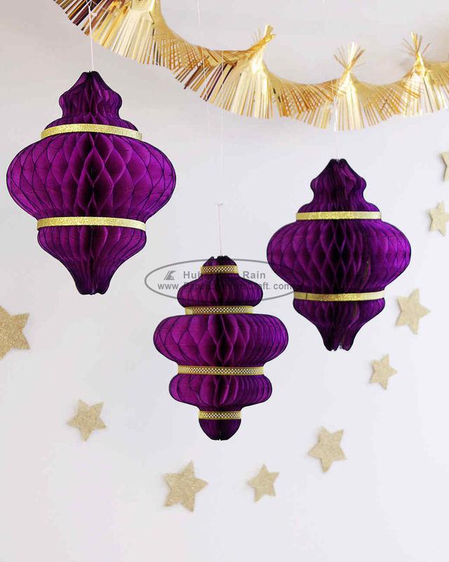 Christmas Purple.Purple Handmade Paper Christmas Ornaments Paper Honeycomb Custom
