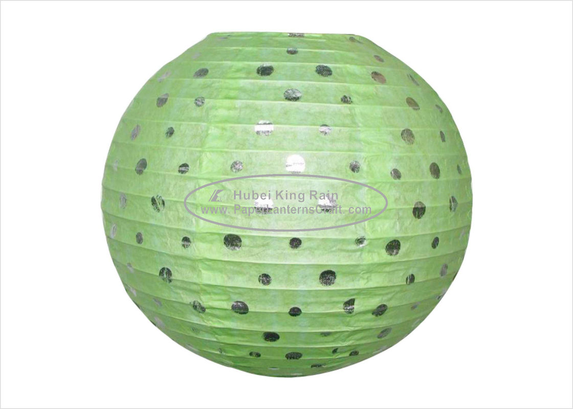 12 inch green Dots Round Paper Lanterns Indoor Decoration ball paper lanterns