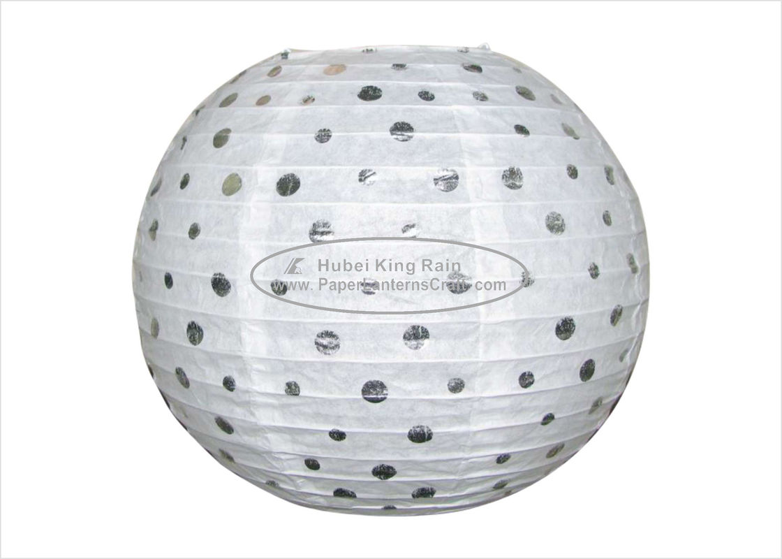 "Dots Round Hanging Paper Lanterns Party Indoor Decoration  12""  White"