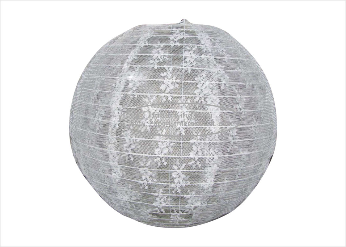 "Hanging Fabric Lace Round Paper Lanterns Party Decoration 10"" 12"" 16"" colourful"