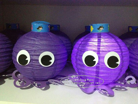Octopus Paper Lantern For Children Toys Hanging Indoor Or Outdoor
