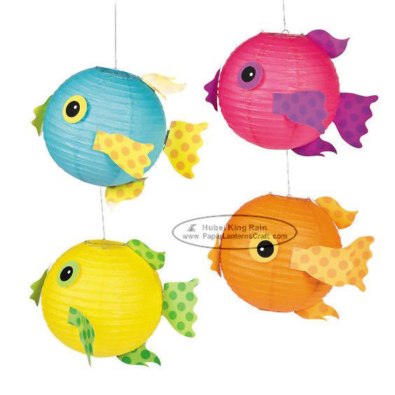 Spotty Fish Lantern For Children Toys Hanging Animal Paper Lantern