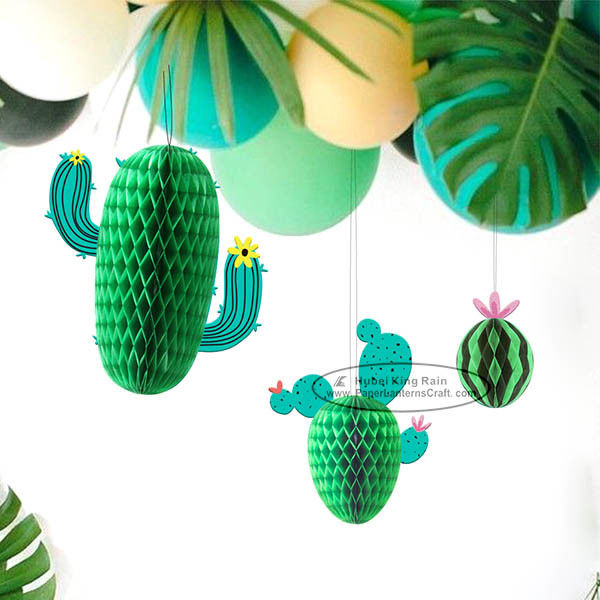 New Cactus Watermelons Shaped Paper Honeycomb Balls Tissue Paper Decorations