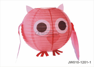 "Pink Blue Angry Cute  Birds Kids Paper Lanterns , 10"" 12"" Animal Print Hanging Paper Lanterns"